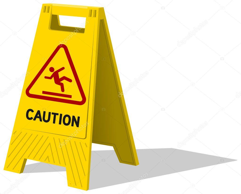Pavimento bagnato e pulizia in corso vettoriali stock - Cartello pavimento bagnato ...