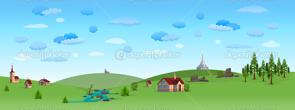 Nature Landscape with Blue Sky