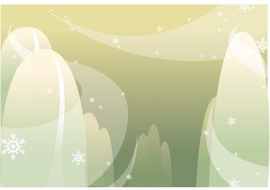 Montagne sous la neige