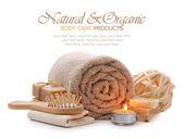 Fotografie organické produkty péče o lázně, lázně, saunu a tělo