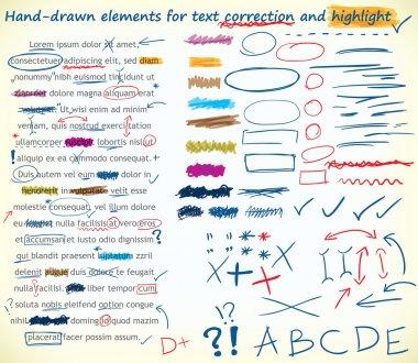 Text correction elements