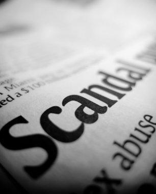 Scandal headline