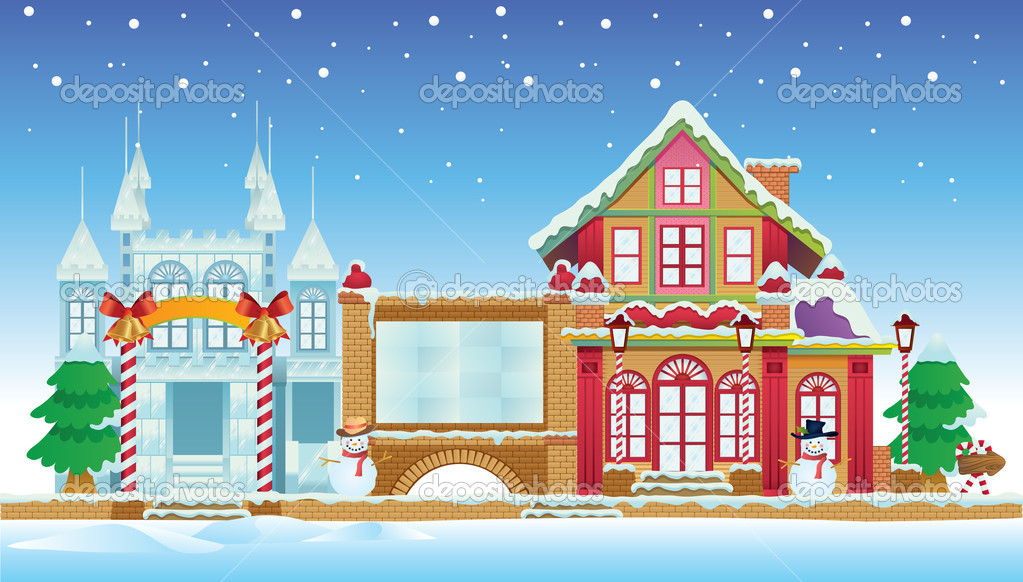ice house design plans html with Stock Illustration Santa House And Ice Castle on Cool Box together with Christmas Scene Snow Scene Vector Skating 296416 together with Types Of House Dogs likewise Great Transitional Paint Colors Friday Favorites further Contemporary Brick Architecture.