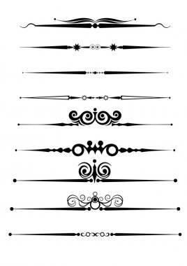 Ornamental Rule Lines Set