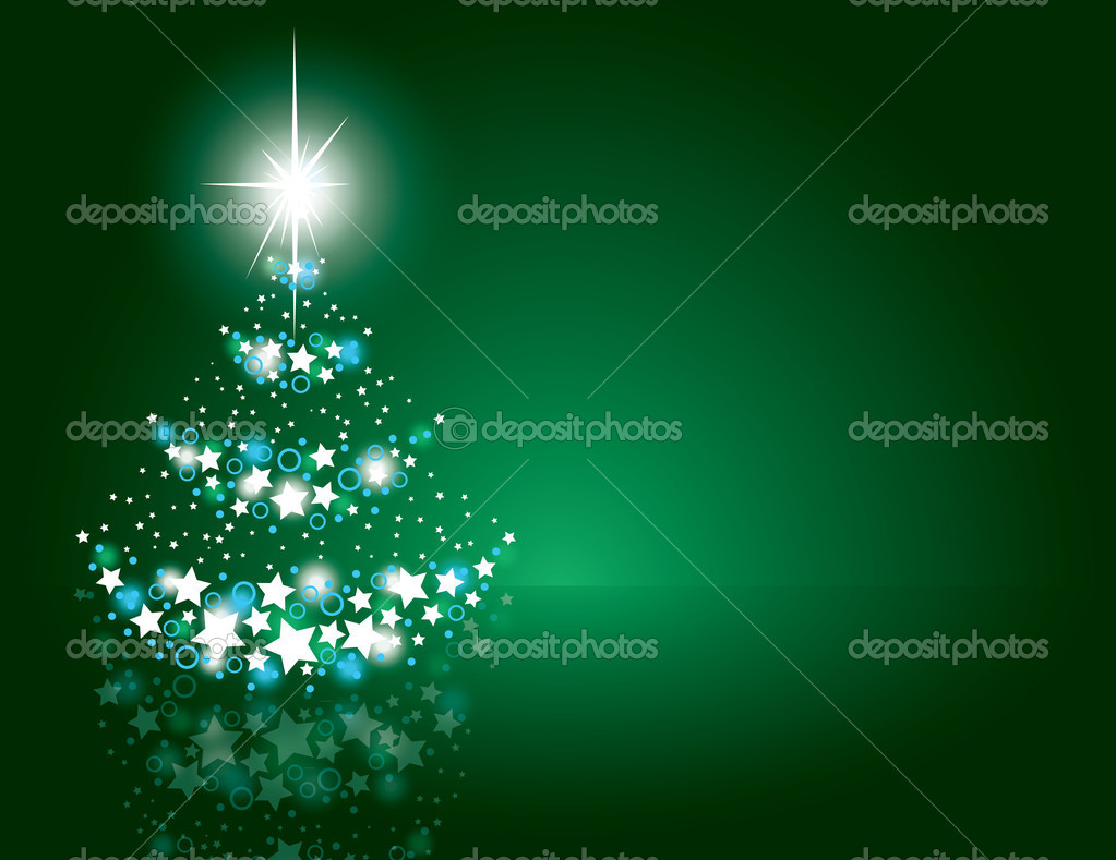 Christmas Tree Background. Vector Illustration.