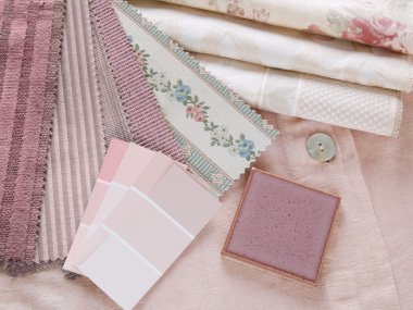 Rosy pink interior design plan