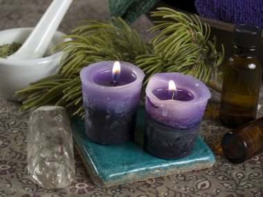 Aromatherapy and crystal healing