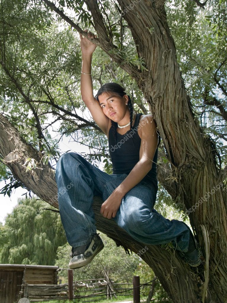 Native American teenage boy