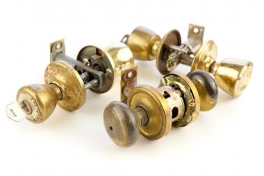 Used old door locks & knobs