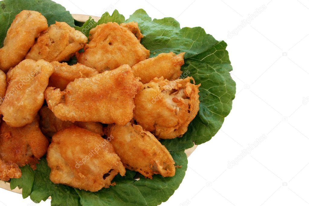 Fish and chips (Fried bakaliaros fish)