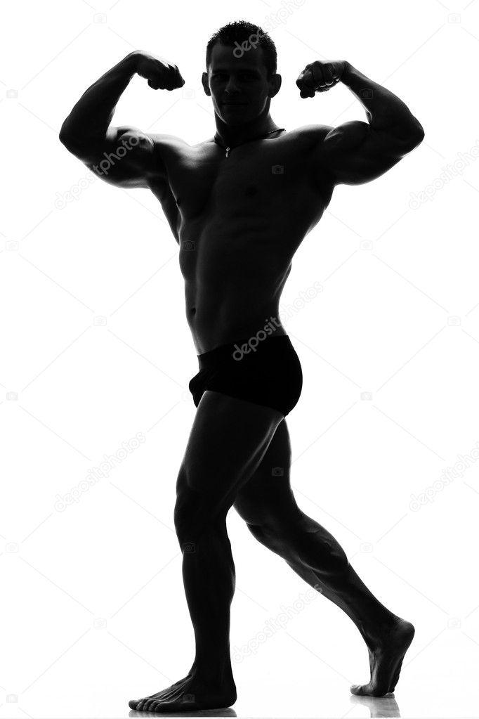 muskel siluett — Stockfotografi © fotomircea #7901711