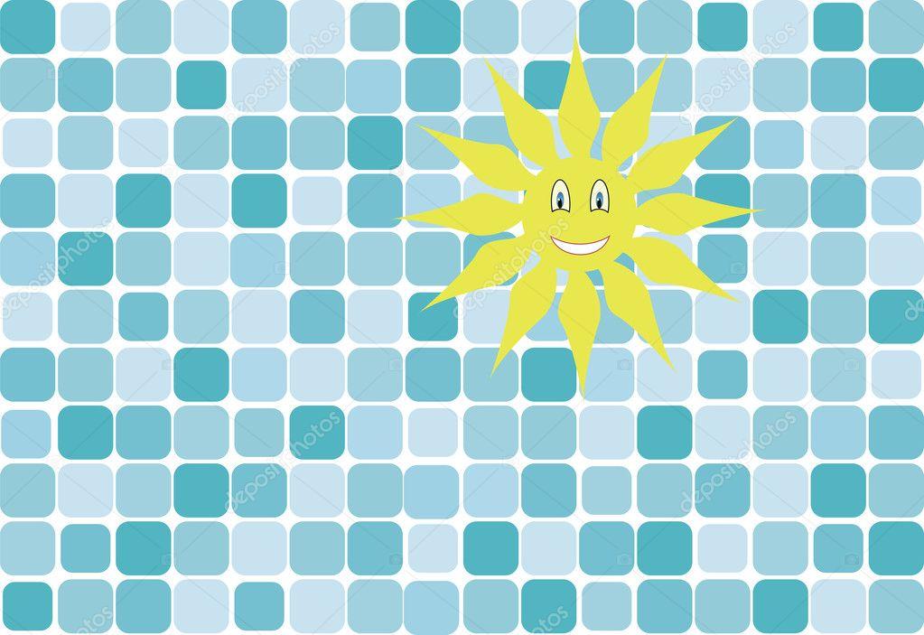 Blue tile pattern