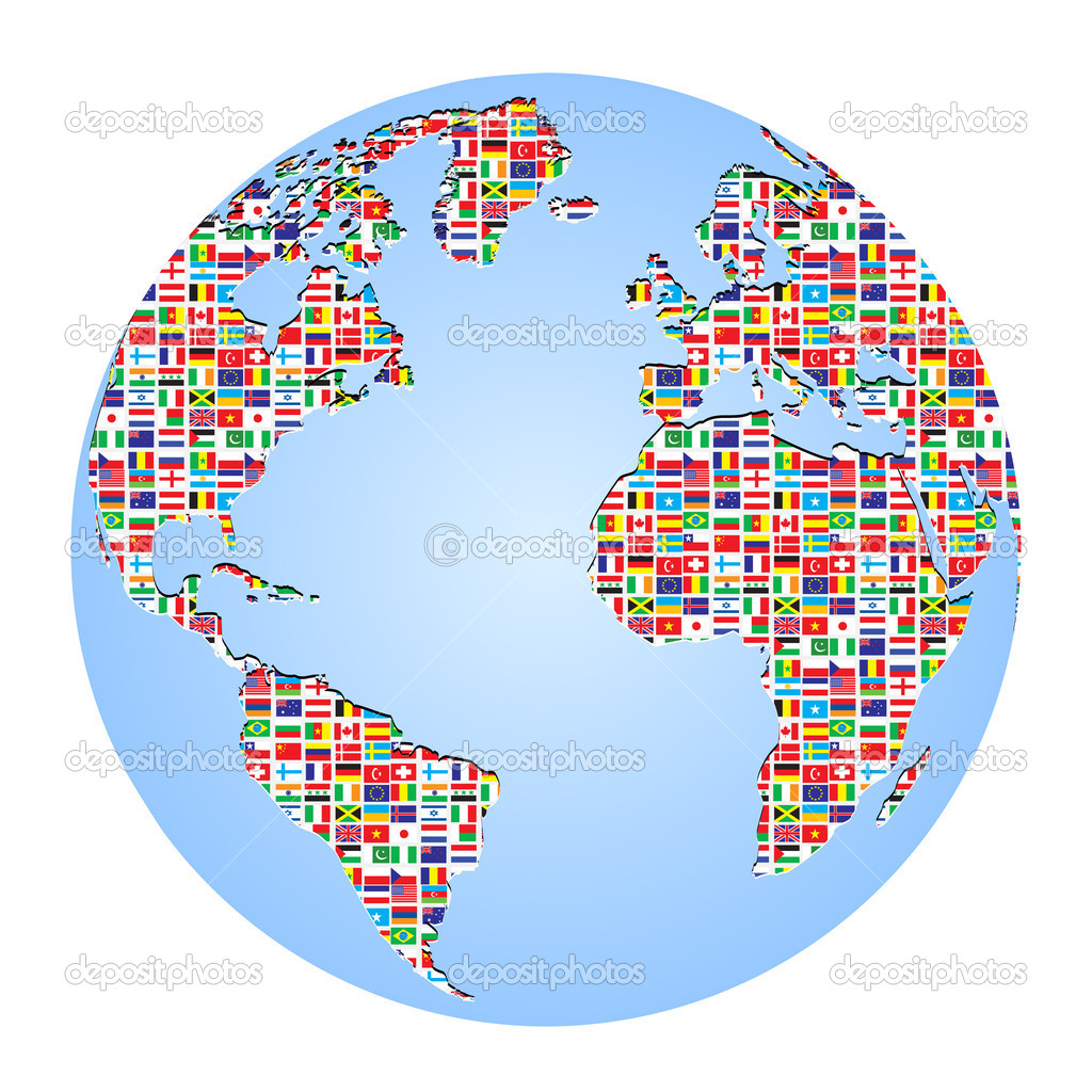 World map with country flags on it stock vector marincasandrei world map with country flags on it stock vector gumiabroncs Gallery