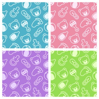 Seamless Baby Shower Patterns