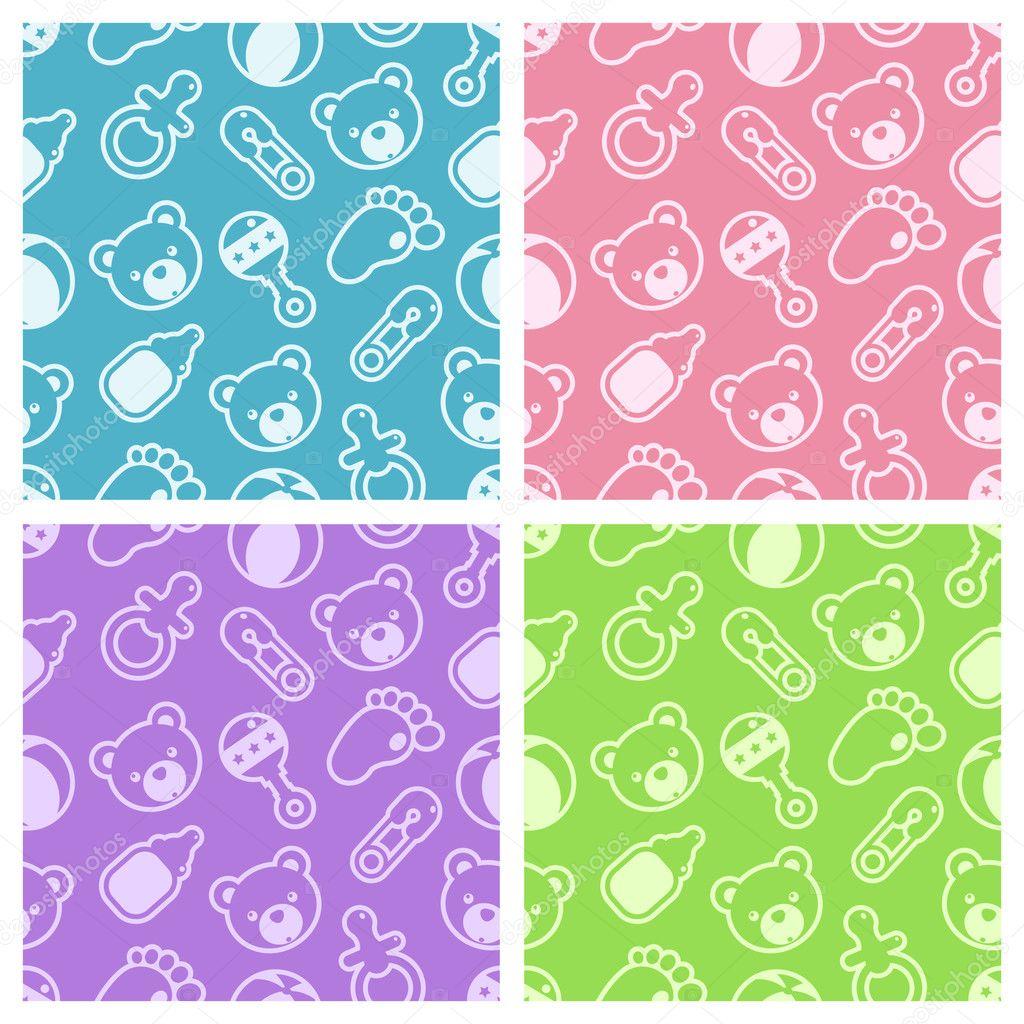 Seamless Baby Shower Patterns