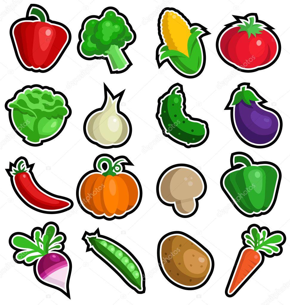 картинка условного обозначения фрукты и овощи современных
