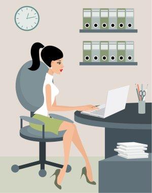 Secretary at office