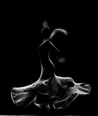 Abstract artistic picture of a modern dancer