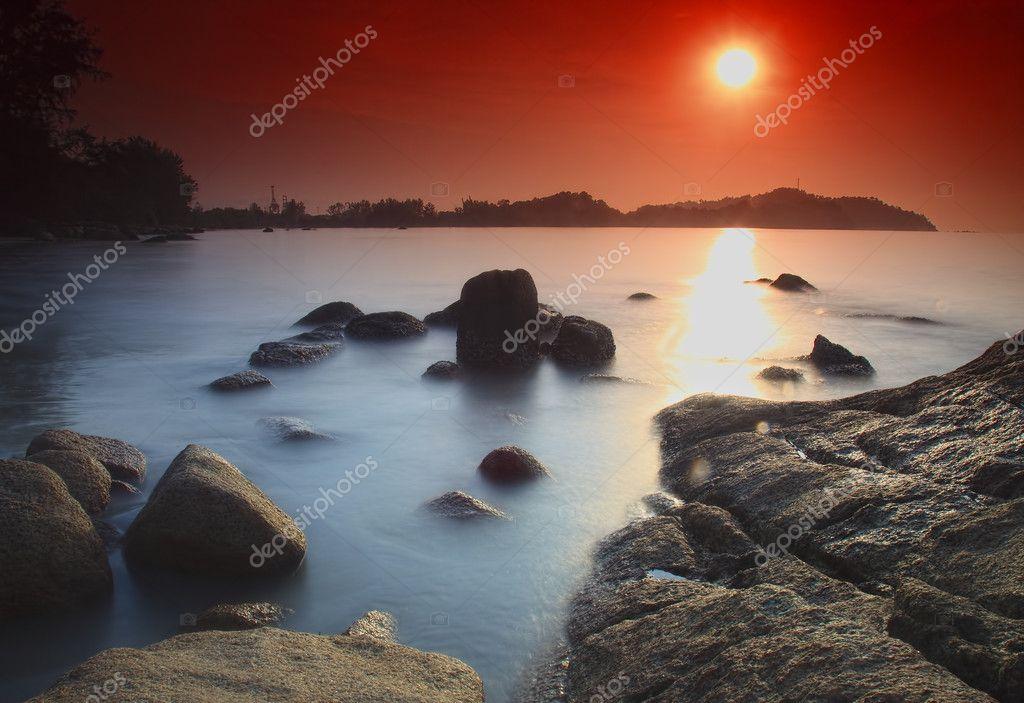 Long exposure at sunrise