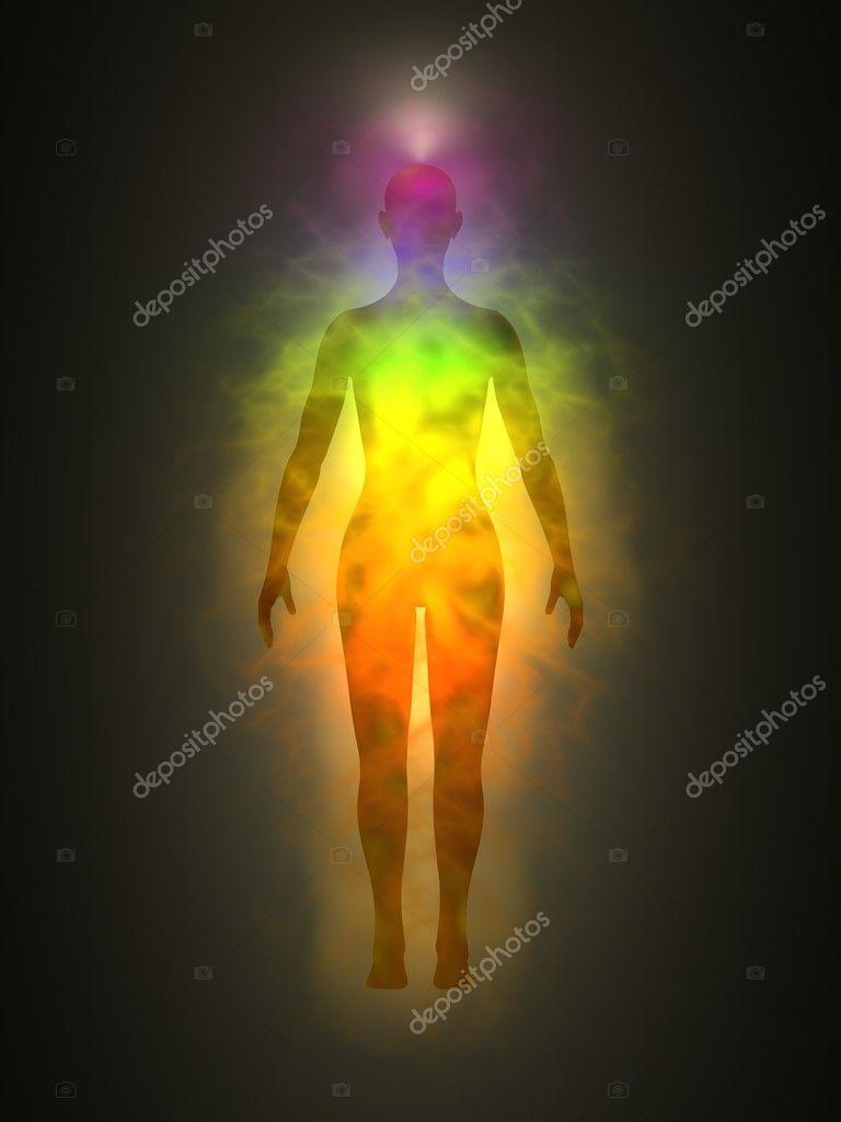 Menselijke Energie Lichaam Aura Chakras Energie