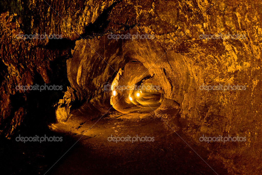 Lava Tube in Hawaii Volcanoes National Park.