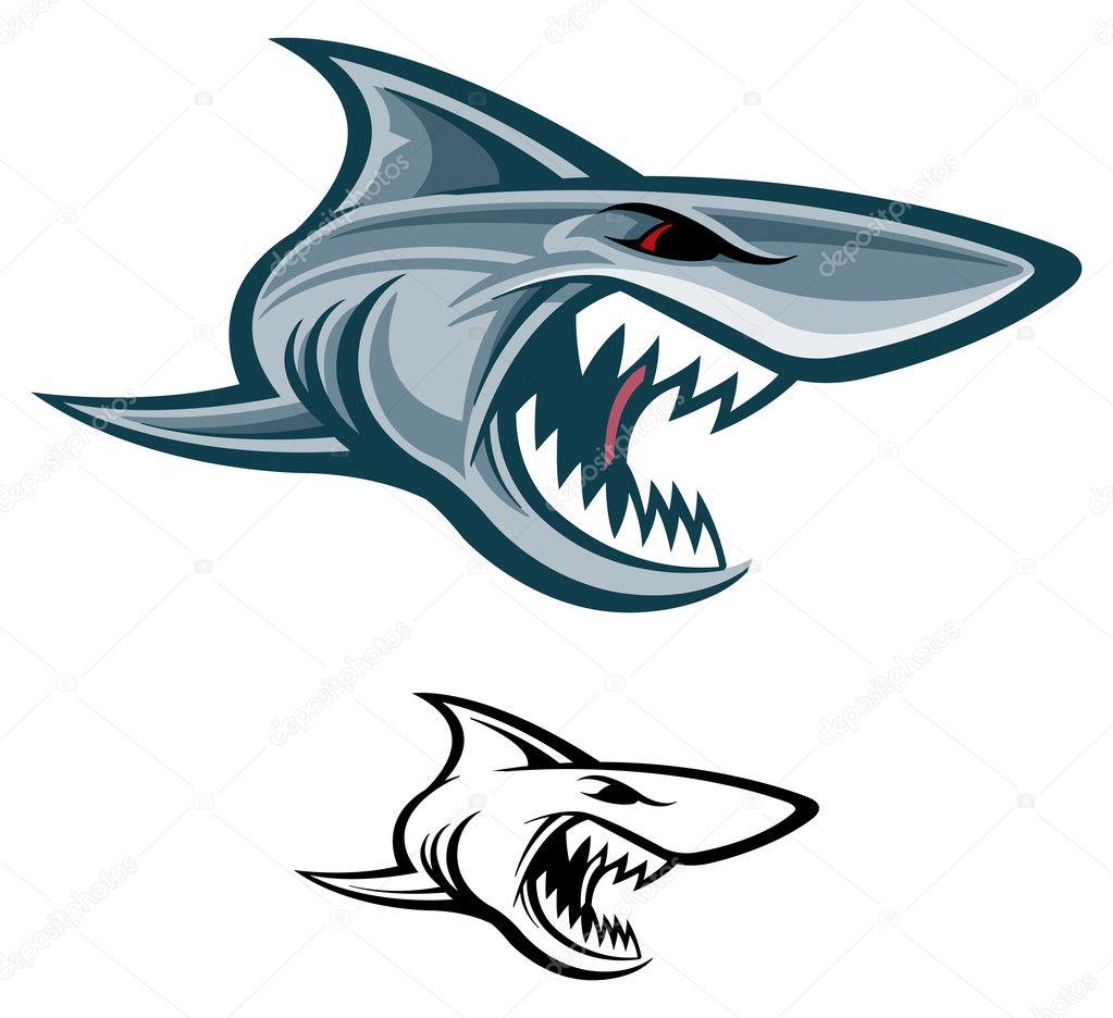 great white shark u2014 stock vector slipfloat 7579480