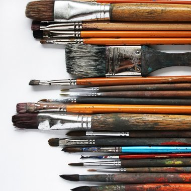 Variety of paintbrushes