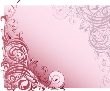 Background with ornamental motifs