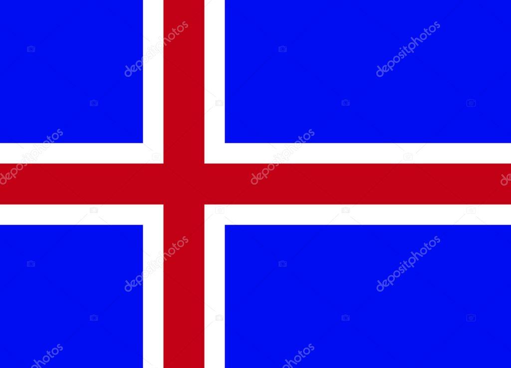 vlag - ijsland — stockvector © frimerke #7536464