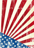 Fotografia Bandiera americana grunge