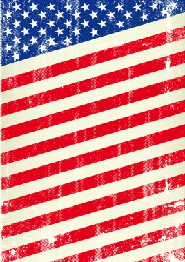 Dirty flag of united states of America