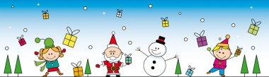Christmas cartoon banner