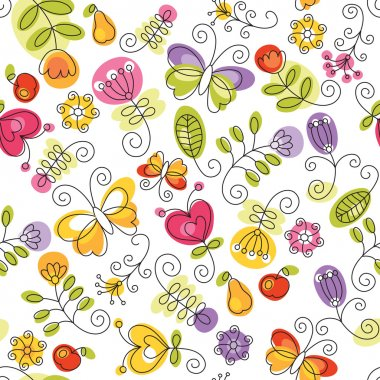 Summery floral background