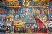 Fotografie the judgment day fresco on western wall of Voronet monastery,