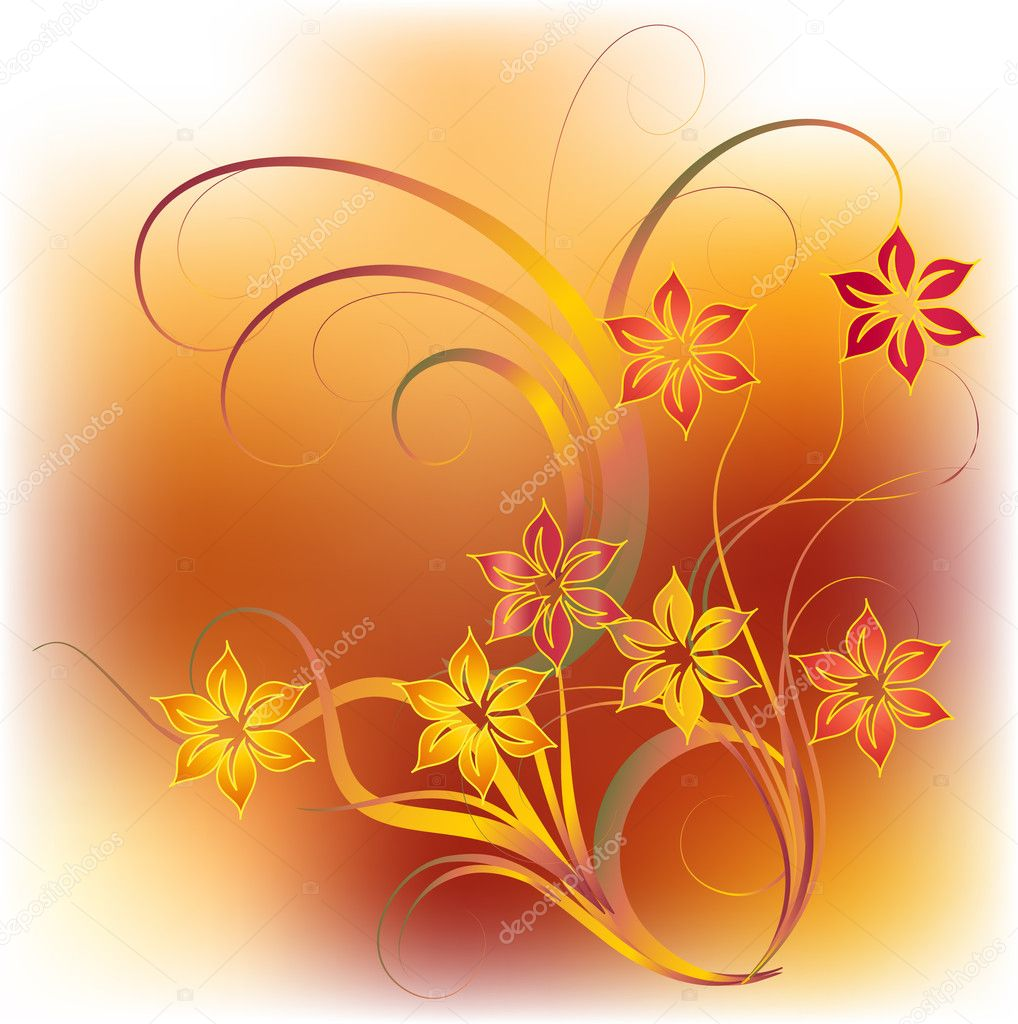 Flower background - vector illustration