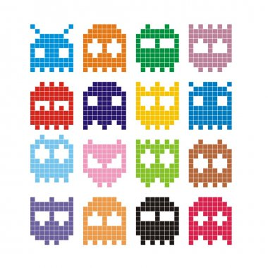Pixel monster icon