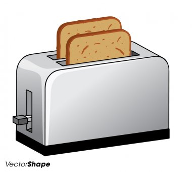 Toaster with fresh toasted bread inside