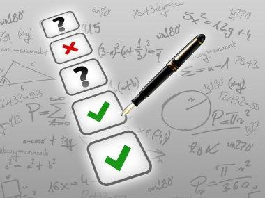 Mathematic test exam concept