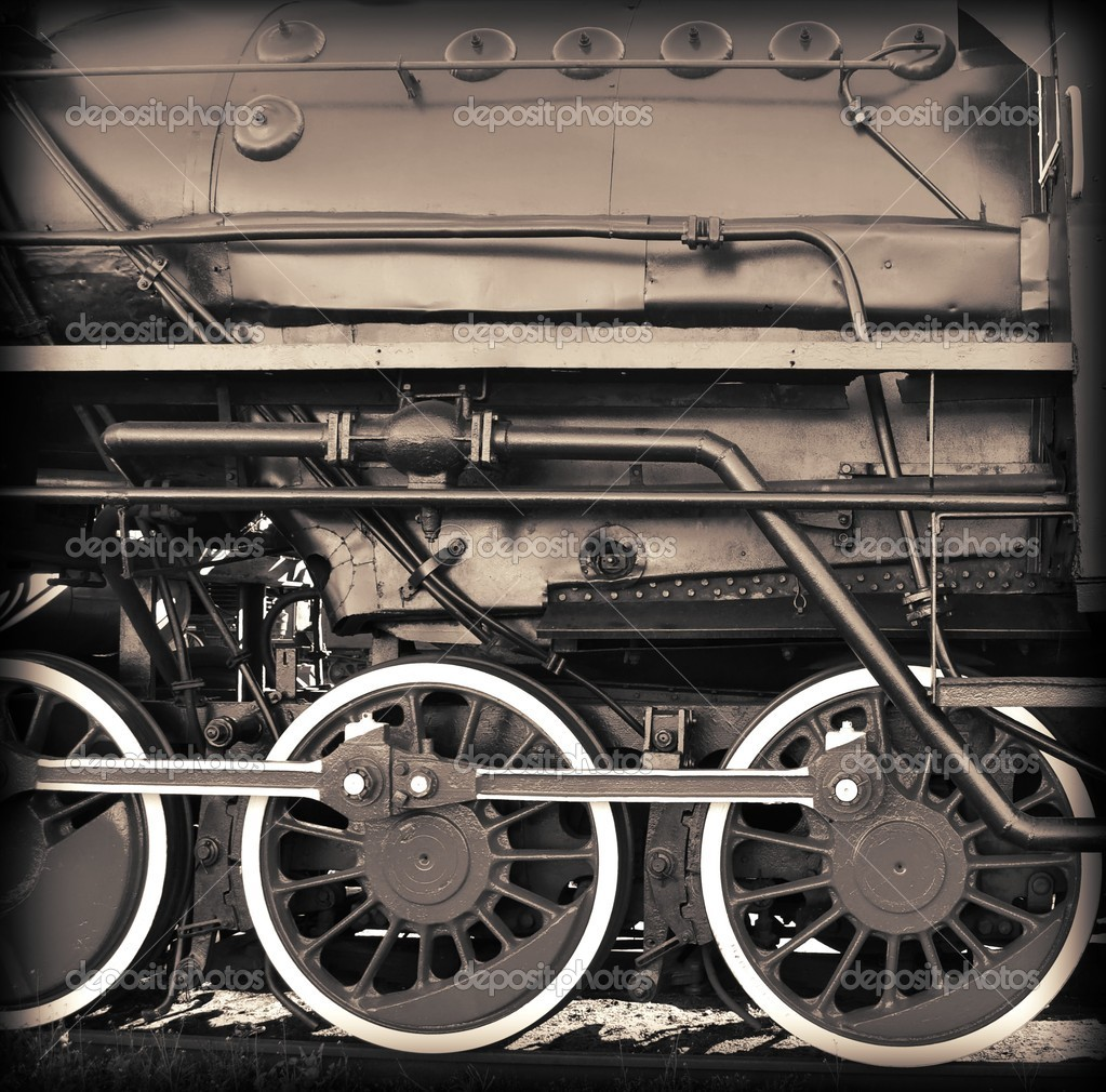 Old sephia train