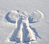 Fotografia Angelo nella neve