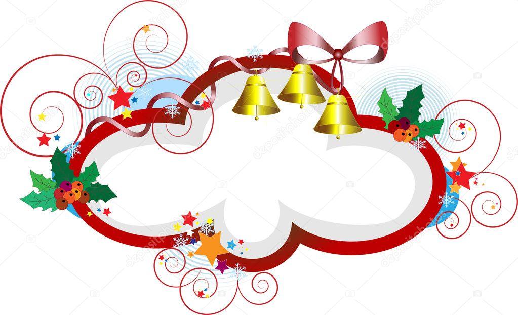 elegante marco de Navidad gifts.postcard — Vector de stock ...