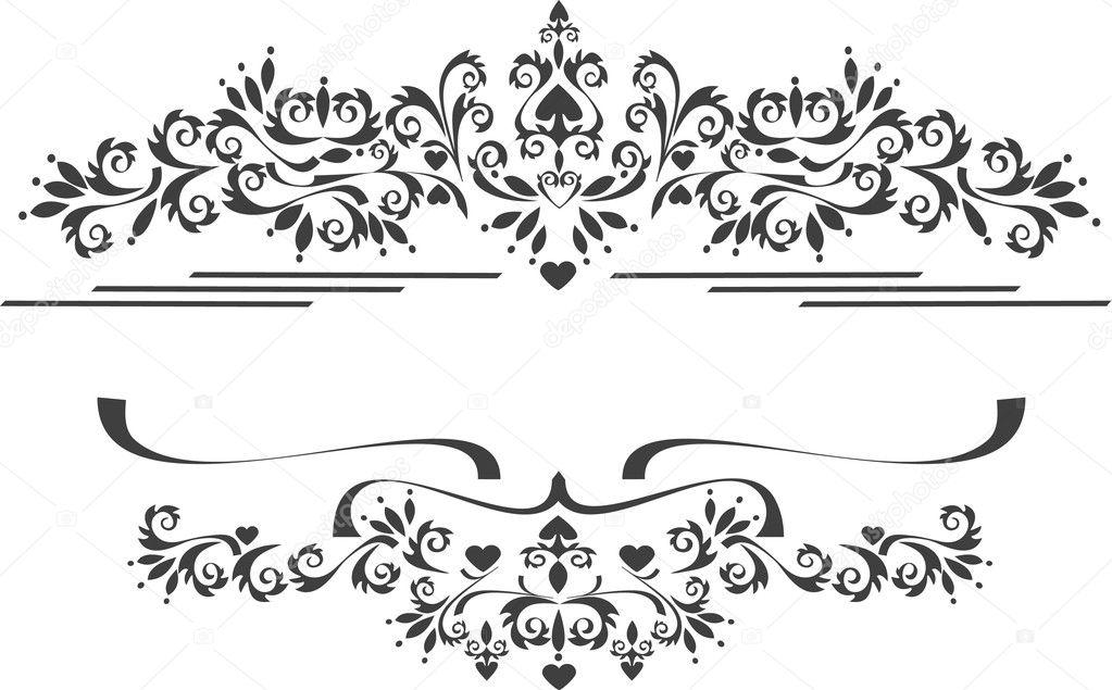 ecorative ornament rahmen gestell bildende k nste banner stockvektor tatyanamh 7670545. Black Bedroom Furniture Sets. Home Design Ideas