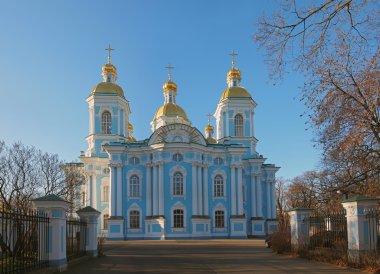 The St. Nicholas Naval Cathedral in Saint Petersburg.