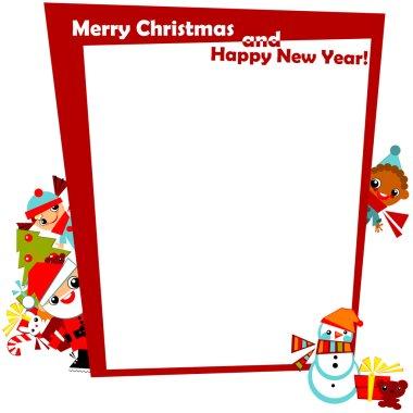 Christmas frame with kids
