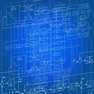 Digital design flow background
