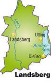 Fotografie Landsberg Inselkarte Übersicht