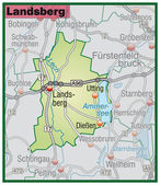 Fotografie Landsberg Umgebungskarte grün