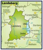 Photo Landsberg Umgebungskarte Übersicht