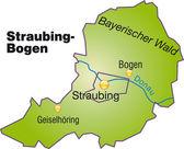 Fotografie Straubing-Bogen Inselkarte Übersicht