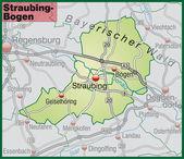 Fotografie Straubing-Bogen Umgebungskarte grün